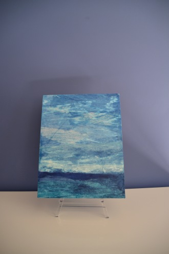 Stormy Skies on Pitch Blue on Easel